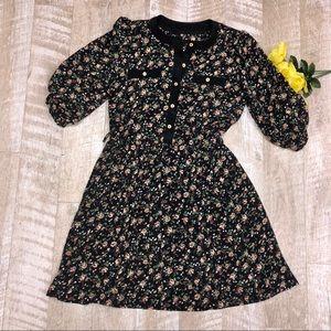 Dresses & Skirts - Floral vintage pleated secretaries dress